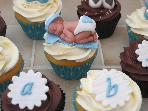 creepy baby shower cupcakes
