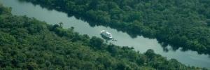 Cruzeiro de luxo irá explorar os rios da Amazônia no Réveillon (Foto: Divulgação/Amazon Santana)