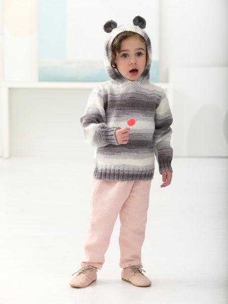 Baby Bear Pullover Knitting Pattern