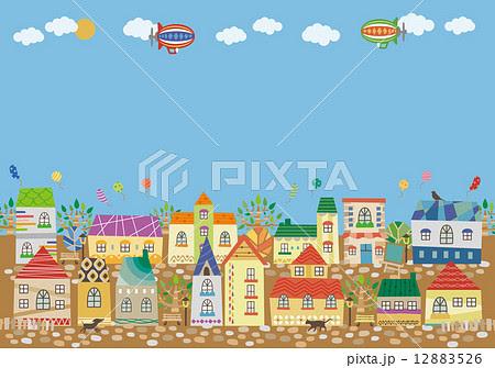 町並みのイラスト素材 12883526 Pixta
