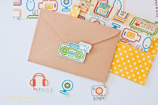 DIY - sobres con papel scrap y plantilla II/II