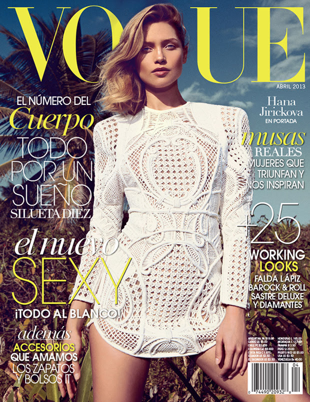 SarahGoreReevesVogueMexico12 Hana Jirickova Gets Tropical for Vogue Latin Americas 2013 April Cover Shoot