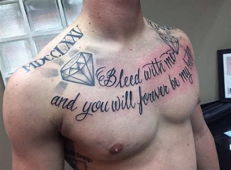 Collar Bone Tattoo Quotes For Guys