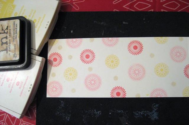 Stamped Patterned Paper