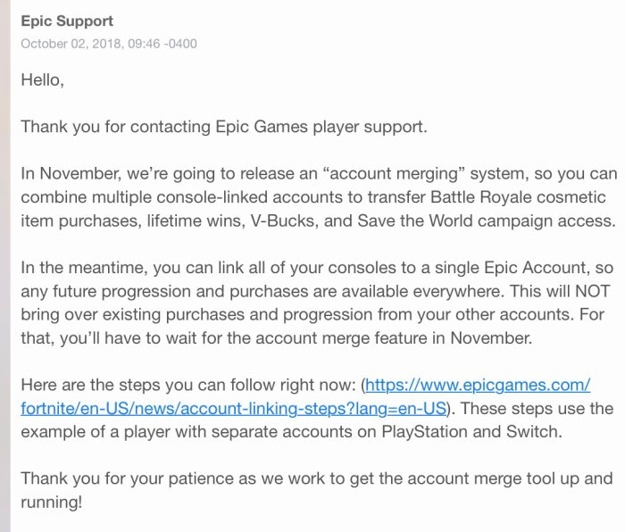 Players Will Soon Be Able To Merge Fortnite Accounts Across