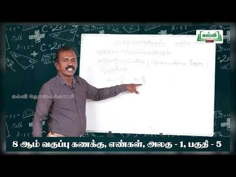 8th Maths விதமுறு எண்கள் அலகு 1 பகுதி 5 Kalvi TV