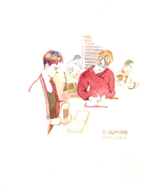 Sketchcrawl in Cafe Dussmann