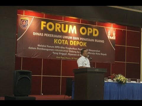 Wakil Walikota Depok Membuka Forum OPD  Dinas Pekerjaan Umum dan Penataan Ruang (PUPR)