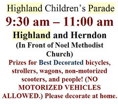4th of july children's parade highland
