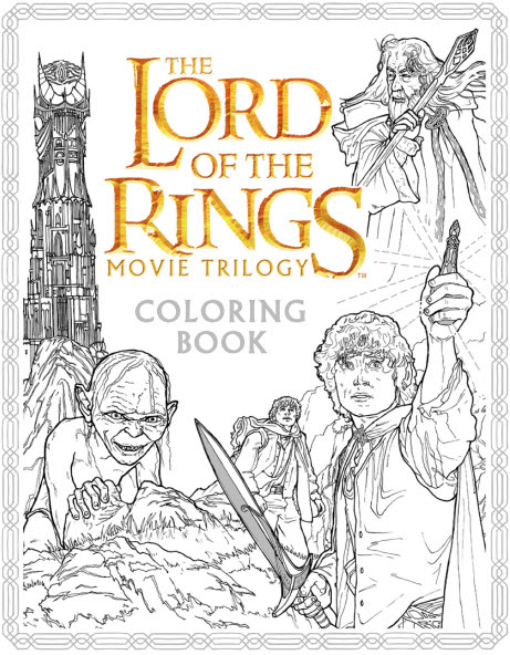 Image result for lord of the rings coloring book
