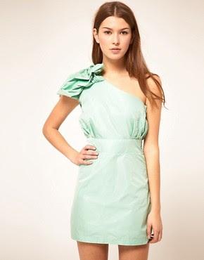 Image 1 ofLiquorish Jacquard One Shoulder Dress