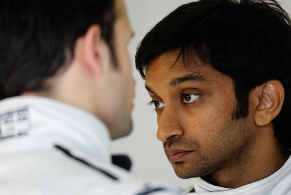 Narain Karthikeyan Narain Karthikeyan of India and Hispania Racing Team is seen during qualifying for the Australian Formula One Grand Prix at the Albert Park Circuit on March 26, 2011 in Melbourne, Australia.