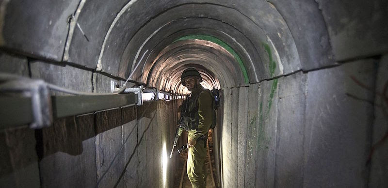 ISRAEL-PALESTINIAN-CONFLICT-GAZA-TUNNEL