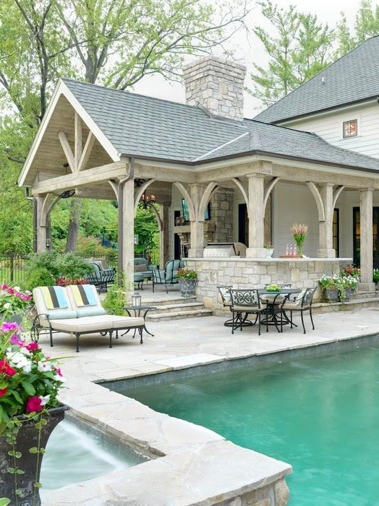 Backyard pool and patio designs