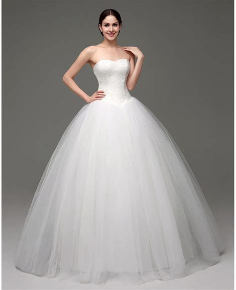 Cheap Simple Strapless Ballroom Bridal Gowns For Weddings