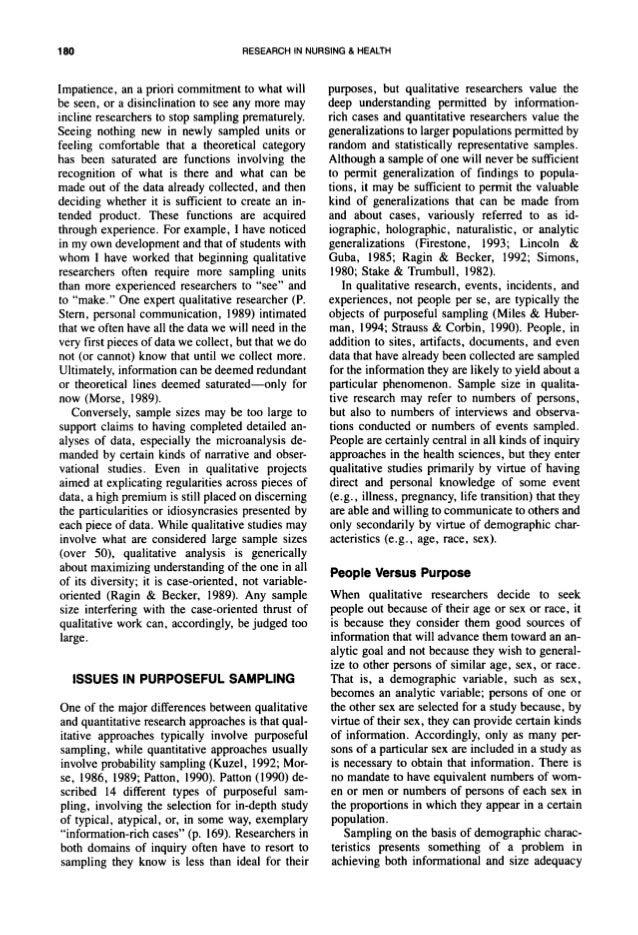qualitative literature review outline