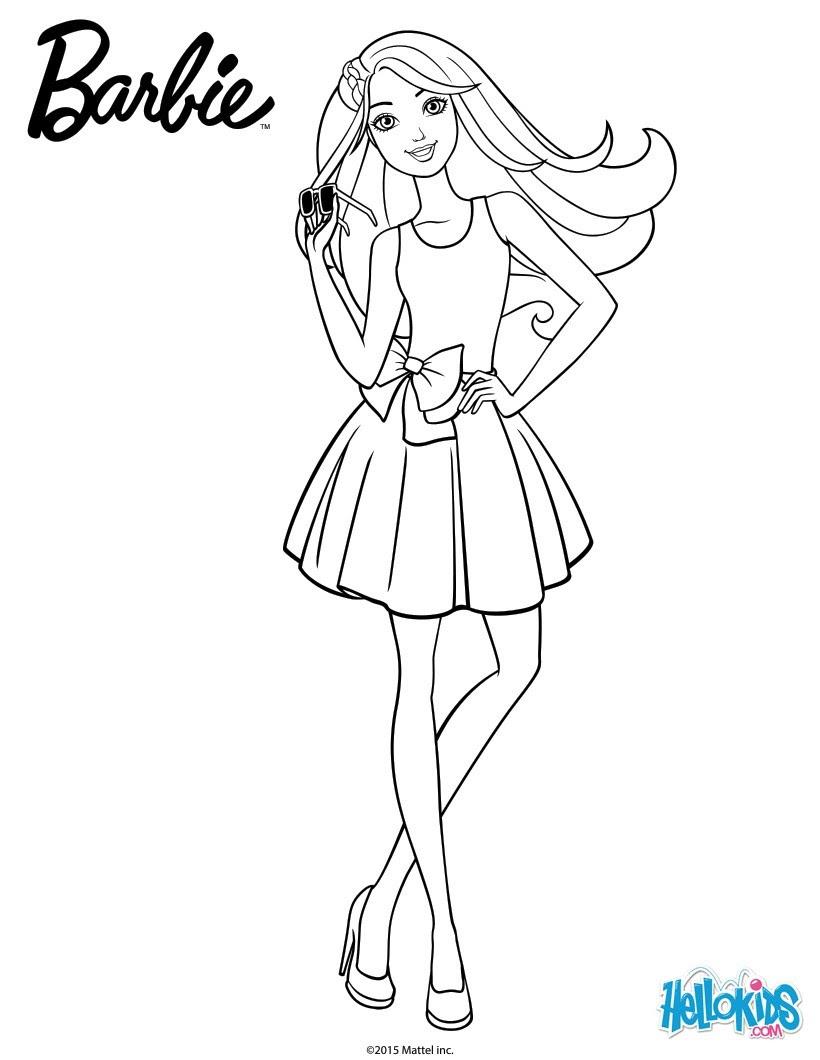 Dibujos Para Colorear Barbie Con Su Prom Dress Eshellokidscom