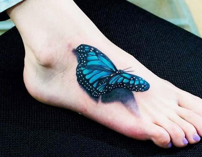 Pretty 3d Butterfly Best Tattoo Design Ideas