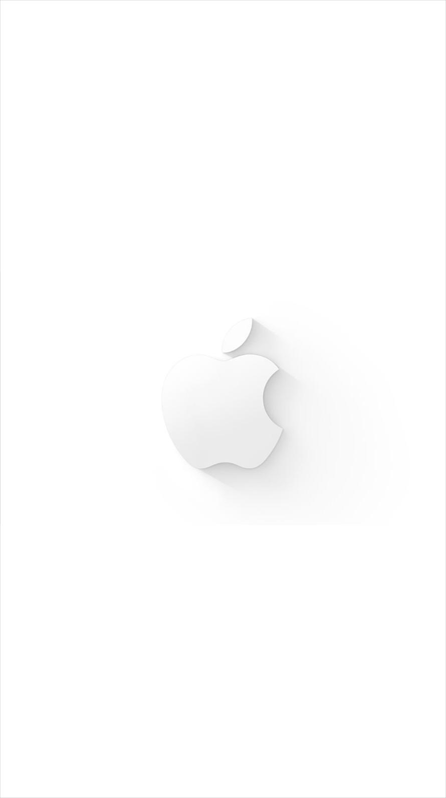 ミニマル ホワイト アップルロゴ Iphone6壁紙 Wallpaperbox