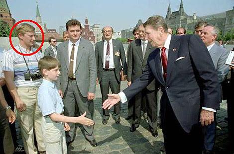 La foto de Putin y Reagan