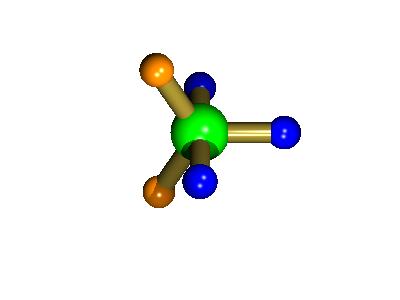 trigonal bipyramidal PF5 structure