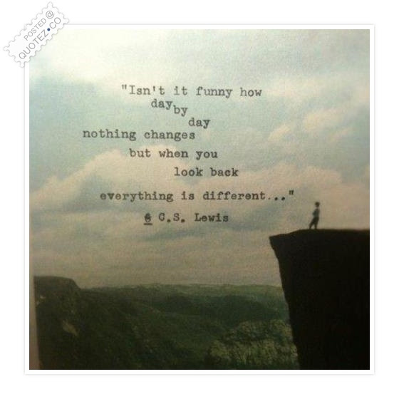 Isn't It Funny How Day By Day Nothing Changes But When You ...