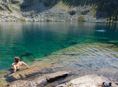 Swimming at Miller Lake