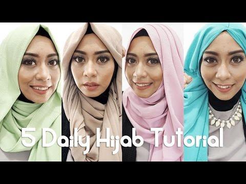 VIDEO : 5 tutorial hijab sehari-hari 2016 by inivindy | pashmina sifon - 55tutorial hijabyang bisa digunakan sehari-hari maupun event formal. sangat mudah diaplikasikan, dan rata-rata menggunakan ...