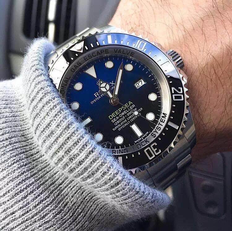 Rolex D-Blue on Wrist