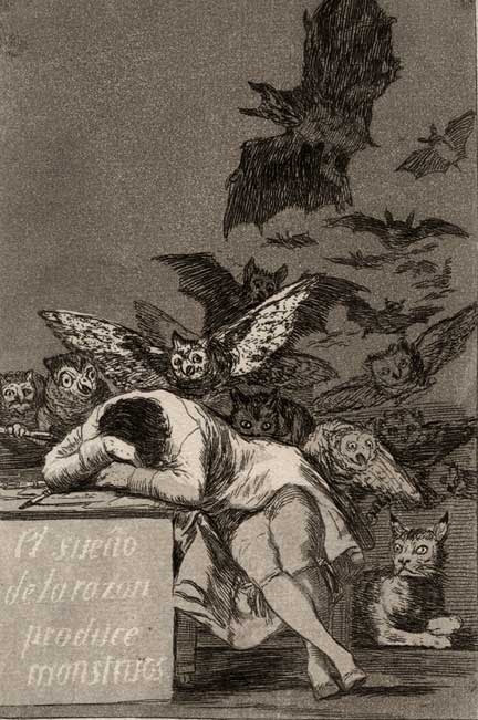 Francisco Goya - The Sleep of Reason Brings Forth Monsters