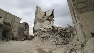 La devastada població de Kafr Hamra, al nord d'Alep (Reuters)