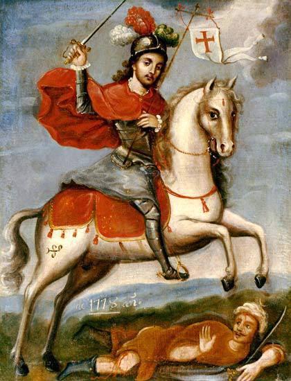 Santiago Apostol en su caballo
