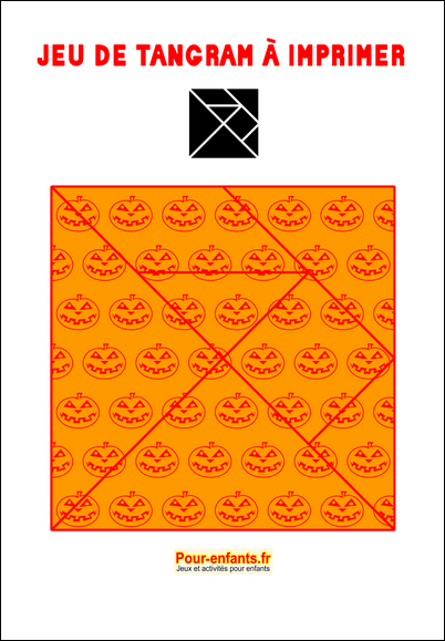 tangram à imprimer maternelle Halloween gratuit