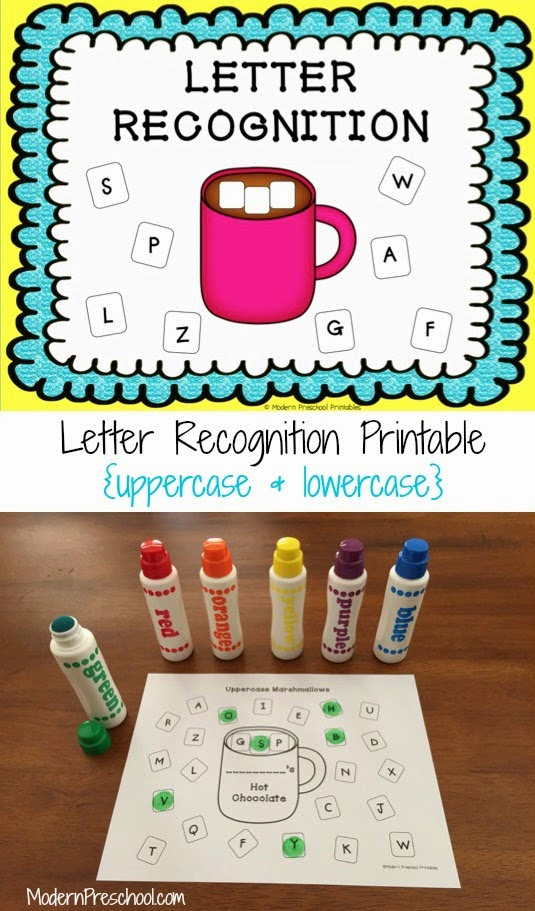 Letter Recognition Assessment With Hot Chocolate & Marshmallows