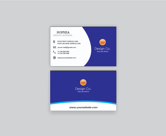 Business Card 2021 In Cdr File / Vector Business Card ...