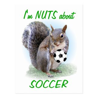 Soccer Nut Postcard