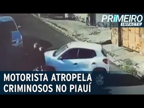 Vídeo: Motorista reage a assalto e atropela criminosos