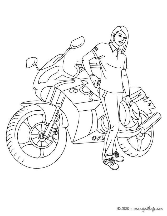 Dibujos Para Colorear Motos 20 Dibujos De Moto Para Pintar Y