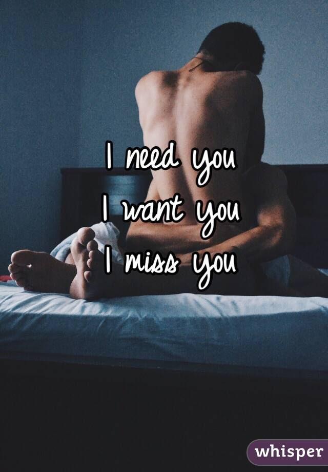 I Need You I Want You I Miss You