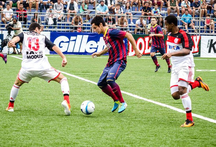 Flamengo e Barcelona Futebol de 7 (Foto: Beto Padilha)