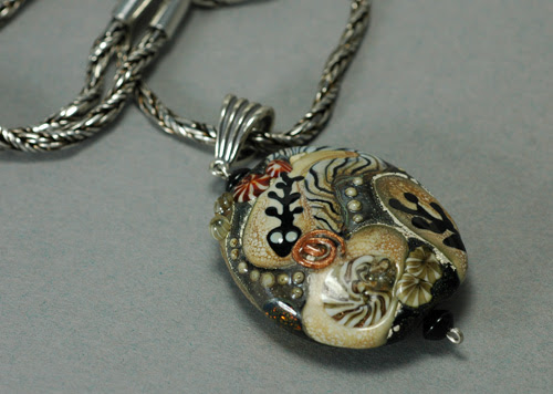 fossil bead necklace