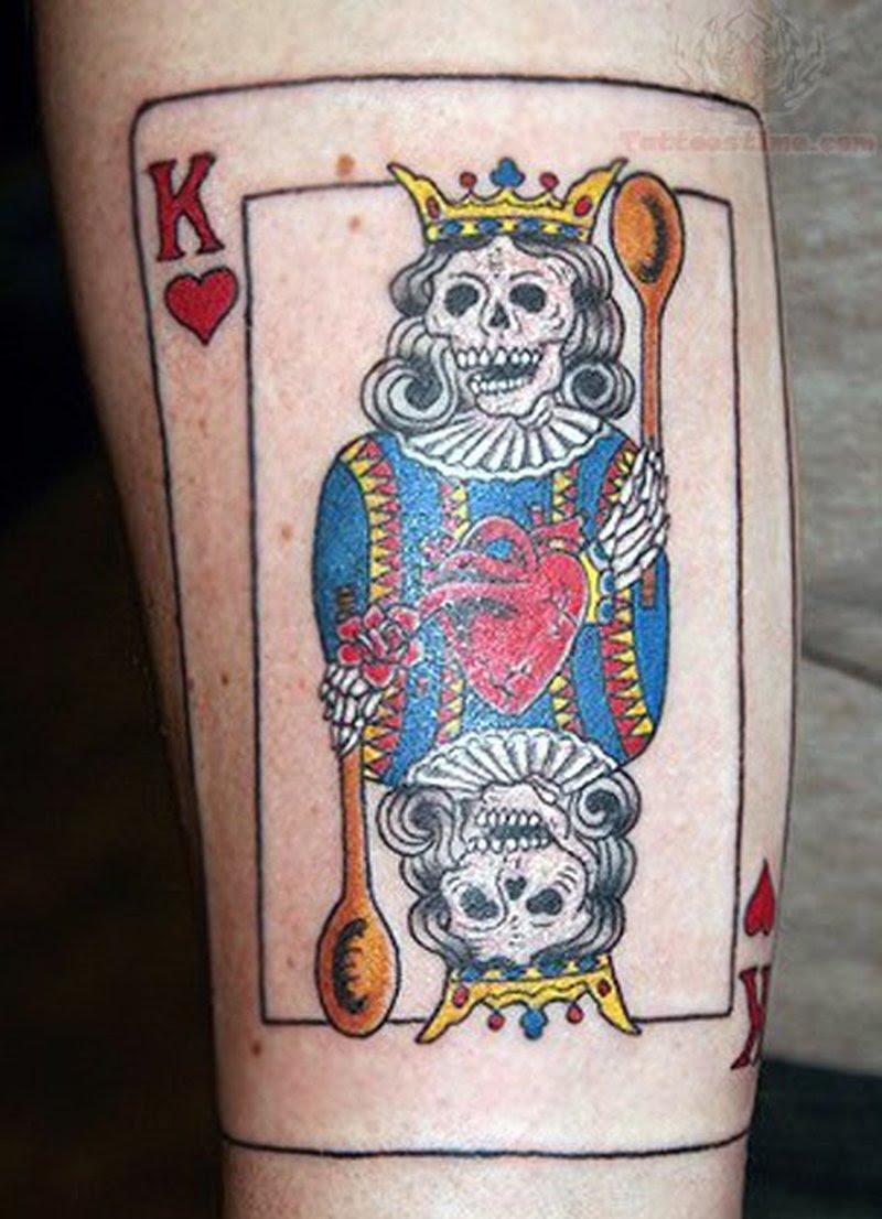 Devil King Alien Skull Card Tattoo Tattoos Book 65000 Tattoos
