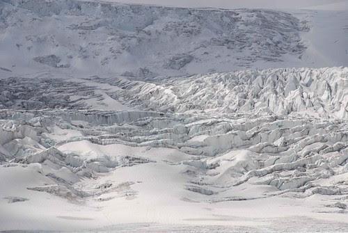 on Athabasca glacier