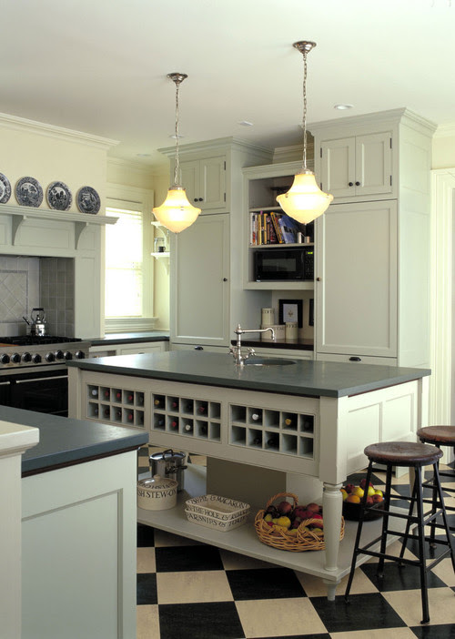 Painted Kitchen Island Area traditional kitchen