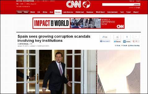 España ve cómo crecen los escándalos de corrupción que afectan a instituciones clave, dice la CNN.