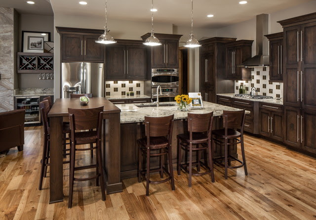 Rustic Modern Lake iHousei Transitional iKitcheni omaha