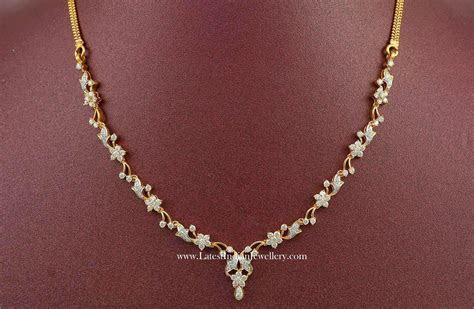 Affordable Indian Diamond Necklace Designs   cz jewellery