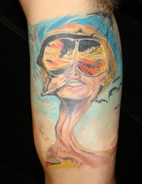 Johnny Depp Fear And Loathing In Las Vegas Tattoo Picture