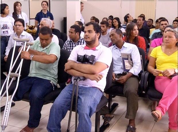 Pessoas com deficiência participaram do encontro (Foto: Reprodução/TV Anhanguera)
