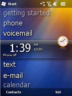 A Screenshot of the Windows Mobile 6.